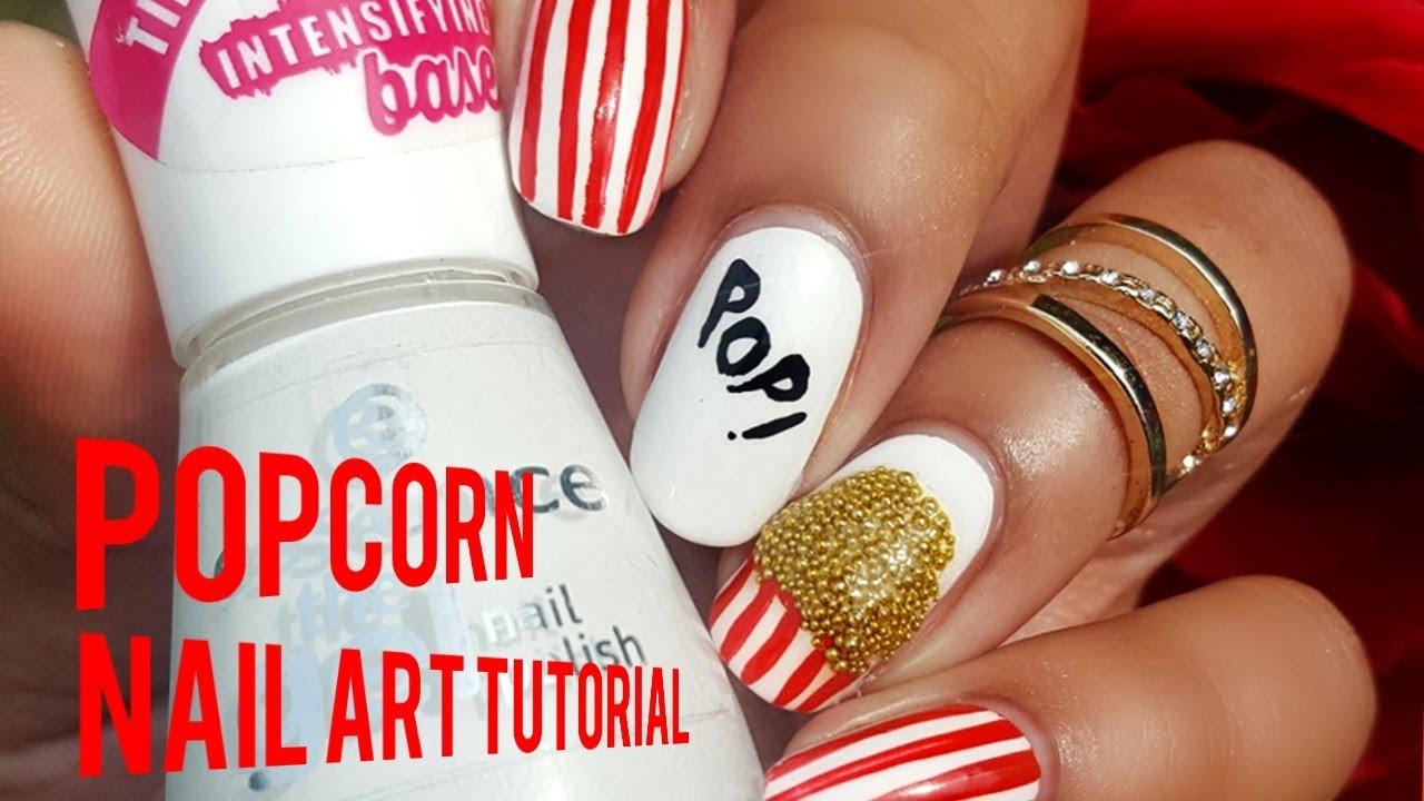 Popcorn Nail Art Tutorial Youtube
