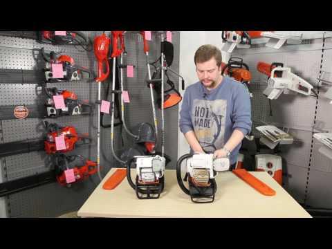 Как выбрать бензопилу. Сравнение бытовой Stihl MS 180 и профессиональной бензопилы Stihl MS 241 C-M