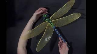 Фоамиран! Большая стрекоза из фома