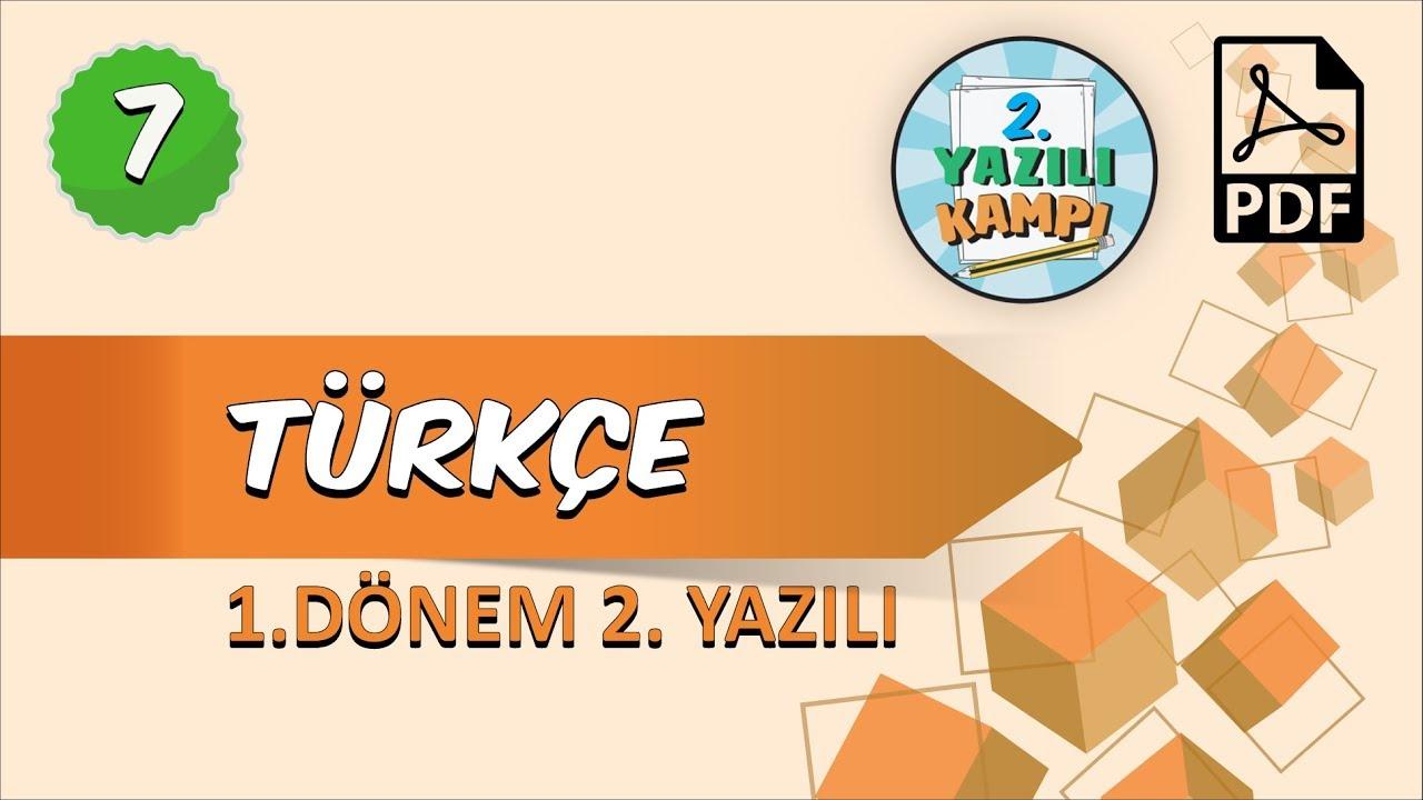 7. Sınıf Türkçe | 1. Dönem 2.Yazılıya Hazırlık