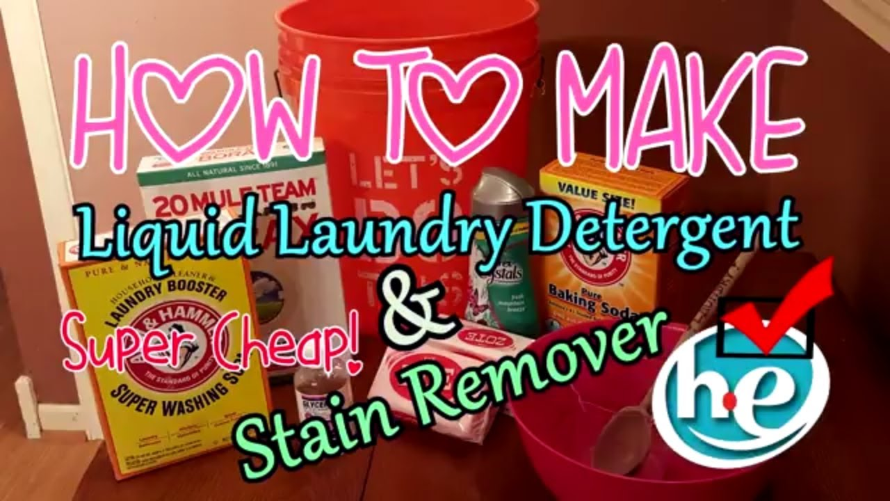 Diy Super Cheap Super Easy Laundry Detergent Liquid 10 Gallons For Only 0 006 Cents Per Load