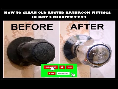How To Clean Old Bathroom Fittings in Just 3 Mins??