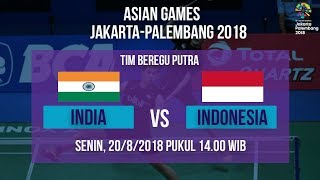 Jadwal Siaran Langsung Bulutangkis Asian Games 2018, Tim Beregu Putra Indonesia Vs India