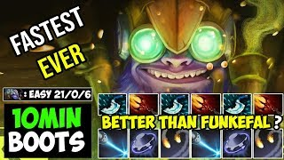 NEW TINKER GOD!!! Better Than Funkefal ? - Fastest Fap Hand RAMPAGE Never Die 21Kills Dota 2 7.21