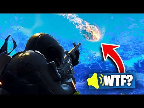 Weird SOUND Coming From METEOR in Fortnite Battle Royale!!! (TILTED TOWERS METEOR)