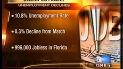 Florida unemployment rate drops
