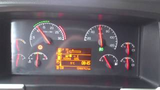 Acceleration truck Volvo fh12 460 manual with max load 40 000kg total wage