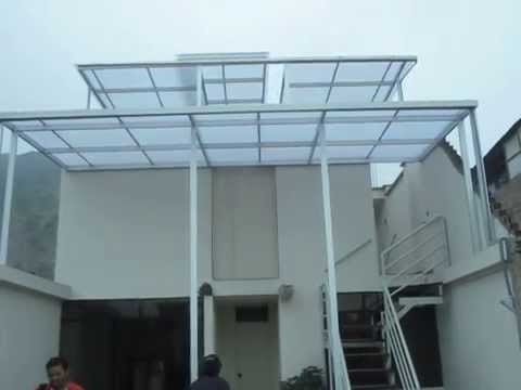 Techos corredizos de policarbonato lima peru 972096635 for Rieles para toldos de techo