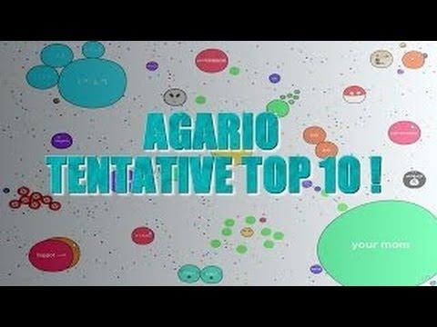 let's play agar.io petit bouda dans le classement :o