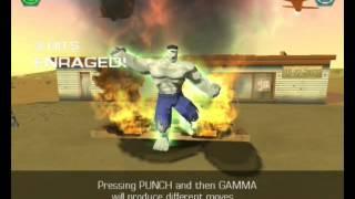 The Hulk (2003) прохождение часть 1 (Серый Халк)