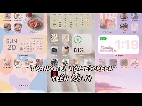 Cách trang trí homescreen trên ios 14 cực xinh và đơn giản bằng app widgetsmith || It's búnn