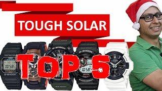 Casio G SHOCK Tough Solar - Top 5 Watches (Hindi)