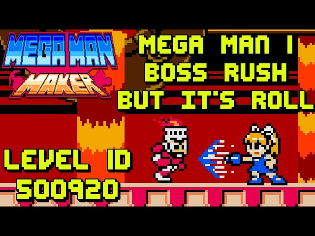 Playing Your Mega Man Maker Levels - Mega Man 1 Boss Rush But It's Roll