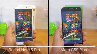 Xiaomi Redmi Note 5 Pro vs Moto G5S Plus Speedtest Comparison