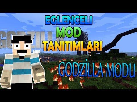 Minecraft : Eğlenceli Mod Tanıtımı : Godzilla Modu - 2500 Hasar Veren Kılıç ! [Part 1]