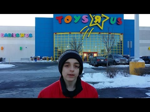 Beyblade Hunting Toys R Us, Concord, Ont Canada Feb 16th 2014 - 4K Video