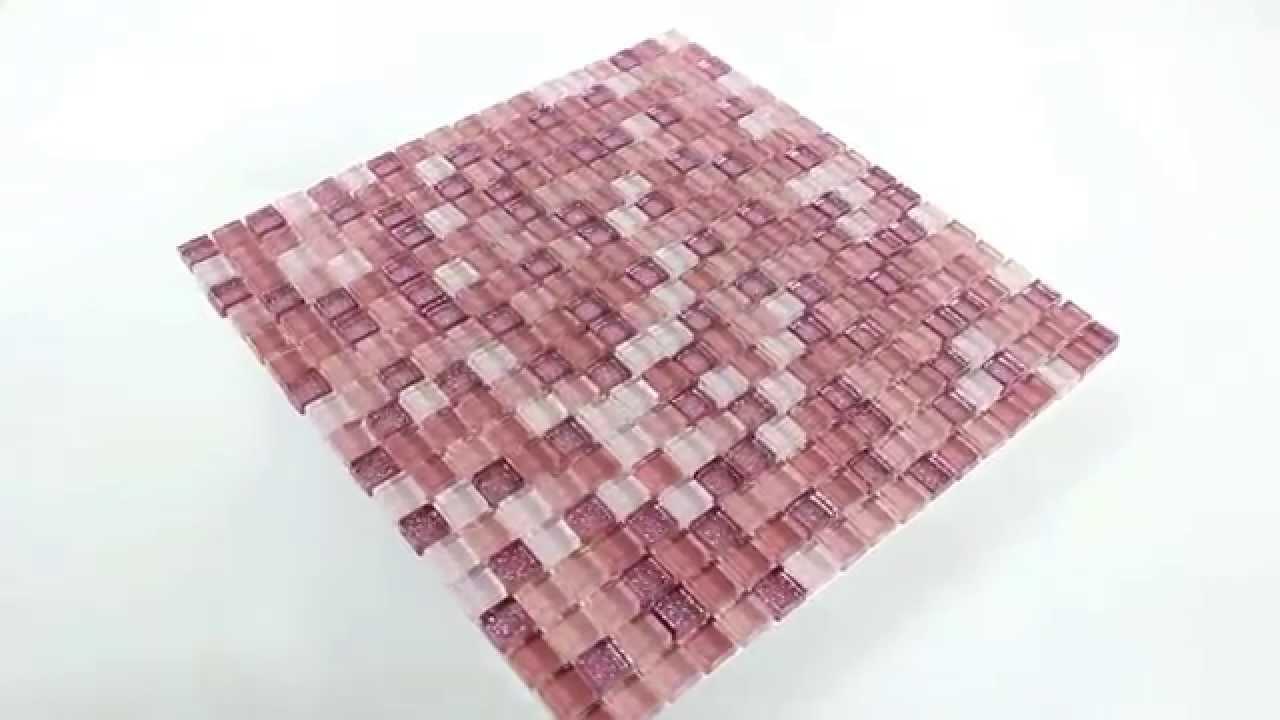 Glasmosaik Effekt Mosaik Fliesen Pink Rosa Glitzer Youtube