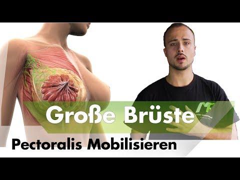 Brustmuskel mobilisieren bei Frauen | Rückenschmerzen durch große Oberweite