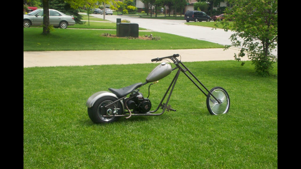 how to make a chopper bike at home