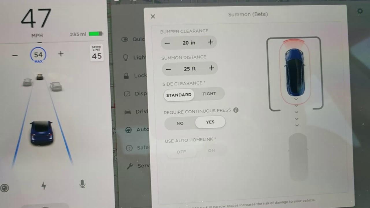 Tesla Model 3 - Software Update: Summon and Summon ...