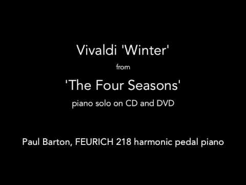 Vivaldi - Winter - The Four Seasons' PIANO SOLO P. Barton, FEURICH 218