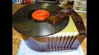 RCA Art Deco 78 RPM Record Player Model #63E Demonstration & For Sale!