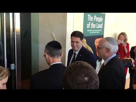 Inauguration of Israel antiquities section at the Museum of the Bible