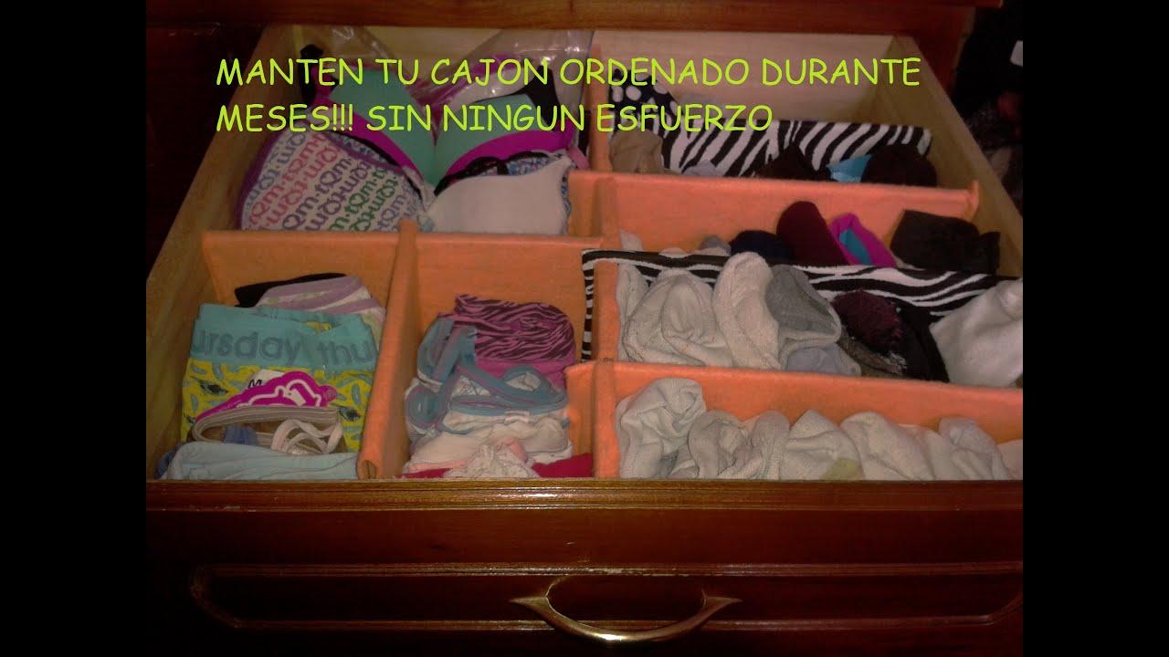 Como organizar tu ropa en cajones youtube - Organizar ropa interior ...