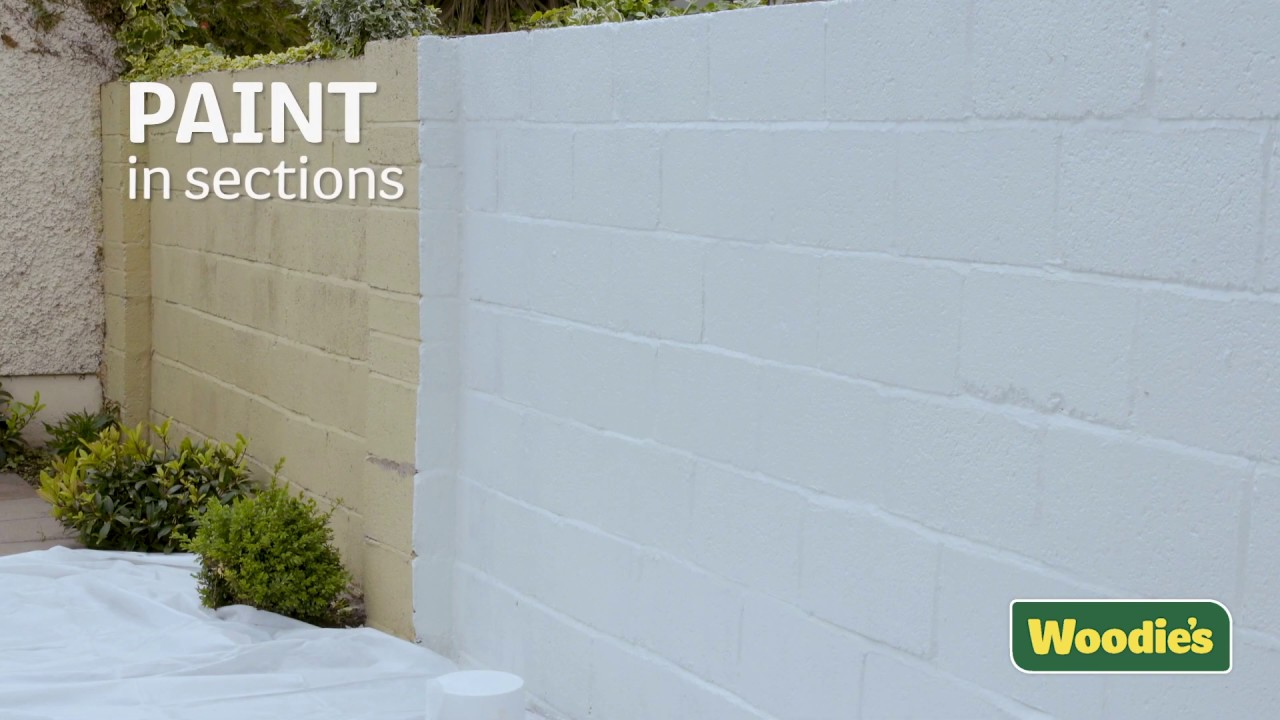 How To Paint An Exterior Wall Youtube