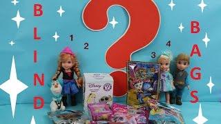 Disney Frozen Elsa chooses Which BLIND BAG is the Best! MLP Disney Sheriff Cali Doc McStuffins