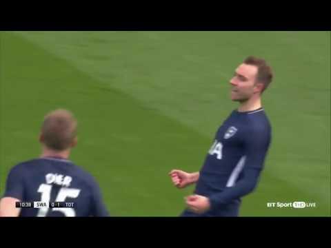 Christian Eriksen vs Swansea City (A) 17/18