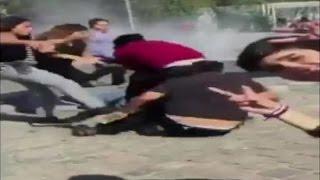 Violenta pelea entre comerciantes chilenos y peruanos en el Parque O'Higgins - CHV NOTICIAS