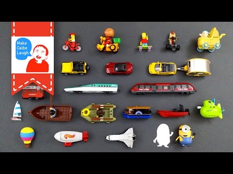 Learning Street Vehicles Names and Sounds and more for kids with tomica