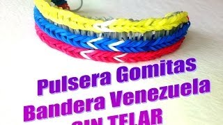 PULSERA GOMITAS BANDERA VENEZUELA.SIN TELAR.