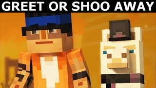 Greet Llama Or Shoo Away - Minecraft: Story Mode Season 2 Episode 4: Below The Bedrock