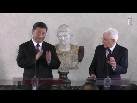 dichiarazioni Mattarella Xi Jinping al business forum Italia Cina