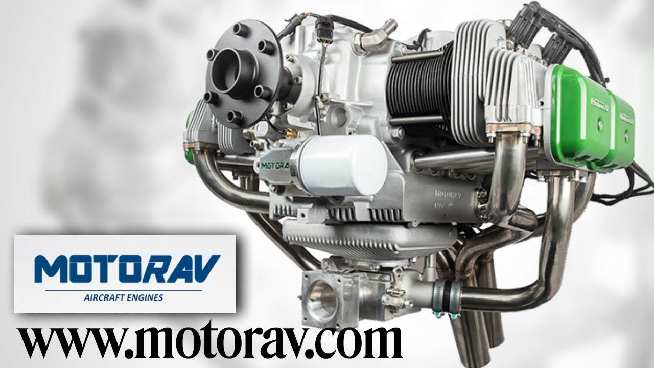 MotorAV, Motor AV, 4 cylinder, 4 stroke,100 HP experimental, light sport  aircraft engine