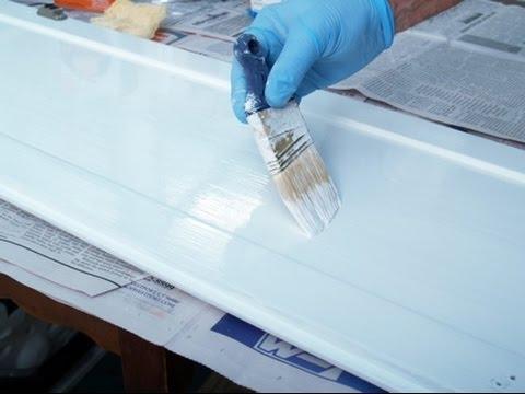 Hướng dẫn cách phun sơn trắng tủ bếp gỗ sồi mỹ