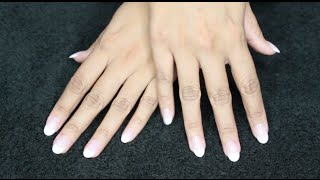 Review & Demo | Kiss Salon Acrylic Nude French Nails