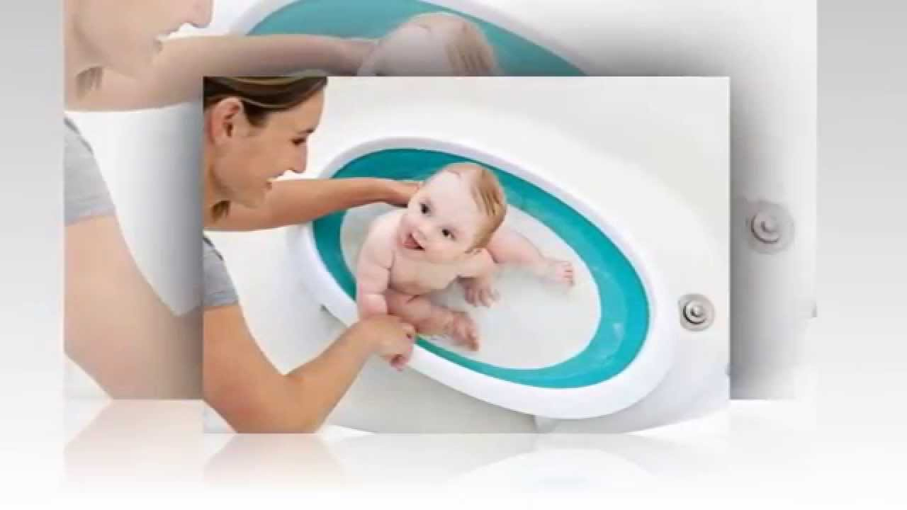 Boon Naked Collapsible Baby Bathtub - YouTube