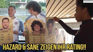 Eden hazard, david luiz & sane zeigen uns ihr fifa 18 rating!