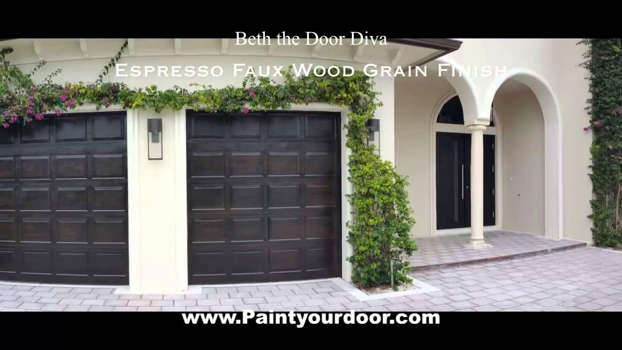 Espresso Wood Grain Garage Doors & Espresso Wood Grain Garage Doors - YouTube Pezcame.Com