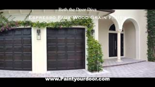 Espresso Wood Grain Garage Doors
