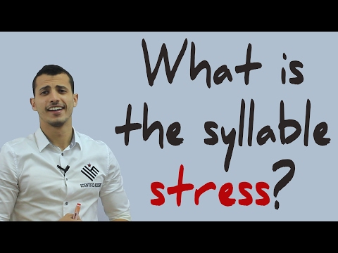 What is a syllable? what is the syllable stress?