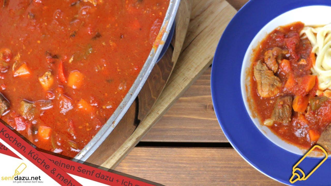 Gulasch Rezept Ungarisch Style Als Schmorgericht Kochen Einfach