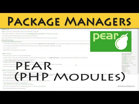 Using Pear For PHP Modules