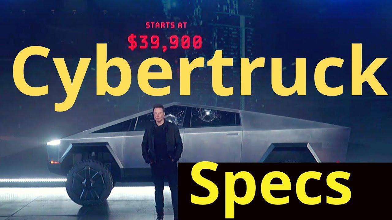 Tesla Cybertruck Specs, Price and Details - YouTube