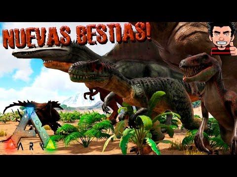 ARK Survival Evolved MOD NUEVOS DINOSAURIOS MOD Additional Creatures gameplay español
