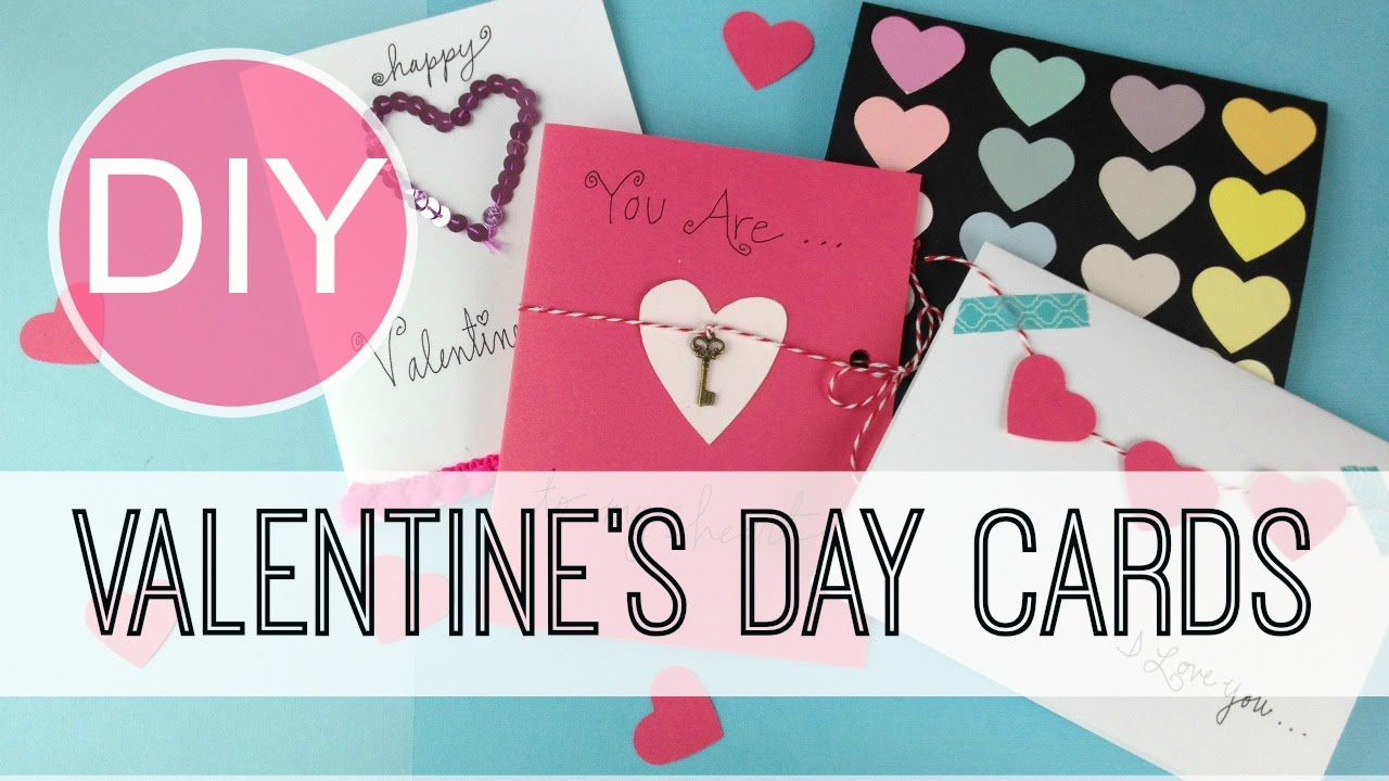 Card Making Ideas For Valentines Day Part - 48: DIY Valentineu0027s Day Cards | By Michele Baratta - YouTube