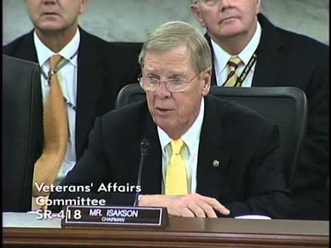 Senator Isakson Chairs VA Committee Hearing on Veteran Homelessness